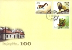 Latvia  100th Anniversary Of Riga Zoo  Animals - Frog , Lion, Horse  FDC  2012   Y - Stamps