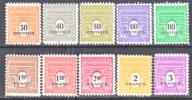 France  523a-j    ** - Unused Stamps
