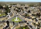 CPSM AVRANCHES (Manche) - Vue Générale Aérienne Place Patton - Avranches