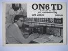 WERVIK - KAART RADIO AMATEUR QSL - 1973 - ON6TD - DANIEL TRIOEN - Wervik