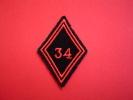 ECUSSON MODELE 45 / 34°RG / 34° REGIMENT DE GENIE / EPERNAY - Patches