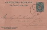 STORIA POSTALE CARTOLINA POSTALE DI STATO DA 5 CENT.11X7 1890 TIMBRO VG SCRITTA RETRO - Posta