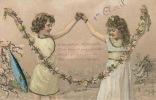 ENFANTS - Jolie Carte Fantaisie Avec Ajoutis Enfants Et Poisson 1er Avril - Erster April