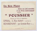 REMIREMONT TRACT PUB POUSSIER UN BON PIANO - Publicités