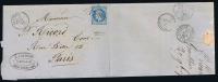 France: Yv  22,1869,  GC1708 Graulhet (R) A Paris - Marcophilie (Lettres)