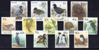 New Zealand 1987-1989 Native Birds 13 Values Used - New Zealand