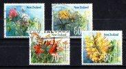 New Zealand 1989 Wild Flowers Set Of 4 Used - New Zealand
