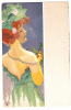 Kirtchner-portrait Fille Avec Bordure Grise -E23-4 - Kirchner, Raphael
