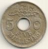 Egypt Egitto 5 Milliemes  KM#315  1916 H - Egypt