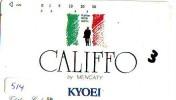 Scheda Telefonica Giappone * CALIFFO * Télécarte Japon * L'Italia Relativi (514) Japan PHONECARD * ITALY RELATED - Publicité
