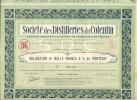 SOCIETE Des DISTILLERIES Du COTENTIN Obligation De 1000F 6% Au Porteur Le 16 Avril 1930 Num 00.982 - Shareholdings