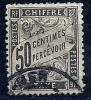 """Taxe YT 20 """" Type Duval 50c. Noir"""" 1881-92 Oblitéré - 1859-1955 Afgestempeld"""