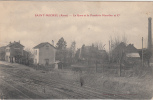 02 AISNE ST MICHEL La Gare Et La Fonderie Hourlier  TBE - Francia