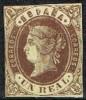 Sello 1 Real Isabel II  1862, Edifil Num 61 (*) - 1850-68 Kingdom: Isabella II