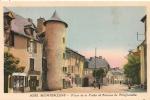 Cpa12 Montbazens Avenue De Villefranche, Place De La Poste - Montbazens