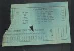 Biglietto Bus Servizio Automobilistico FERMO-MACERATA ( Monte Urano-porto San Elpidio Etc Etc) Anni 40/50/60 - Autobus