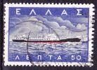 GREECE 1958 Greek Merchant Marine / Ship 0.50 Dr.  Vl. 740 - Griekenland