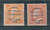 """ERINNOFILO 1929 VIAREGGIO FIERA """"BOLLO DELLA POSTA SICILIANA"""" SOP.TO IN NERO - Cinderellas"""