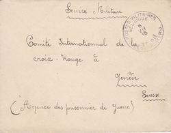 Lettre Belgique Croix Rouge Genève Suisse Agence Des Prisonniers De Guerre 1915 WW1 - Prisonniers