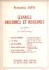 PARTITION DE FERNANDEZ LAVIE: OEUVRES ANCIENNES ET MODERNES - POUR GUITARE ET CHANT ET GUITARE - Klassik