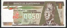 GUATEMALA  P65 1/2 QUETZAL 4.1.1989 G & D  Attention à L'imprimeur !! UNC. - Guatemala
