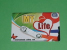Farfalla-my Life-3-euro-calling Card-usata-PREPAGATA - Schmetterlinge