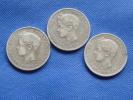 Espagne Spain Lot 3x 5 Pesetas Argent Silver 25g 0,900 Alfonso XIII 1896-97-98 Voyez étoiles+conservation Sur Images - Colecciones