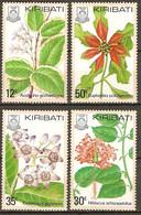 Kiribati 1981 Flora Plants Flowers 4v MNH ** - Planten