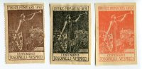 SERIE 3 ERINNOFILI V CENTENARIO NASCITA TOSCANELLI E SCOPERTA DI VESPUCCI FIRENZE ANNO 1898 ILLUSTRATORE G. ANICHINI - Cinderellas