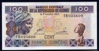 GUINEA (République De Guinée )  : 100 Francs -  1998 - FDS - Guinea