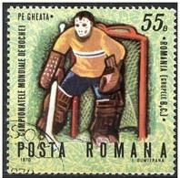 Rumania 1970 Scott 2149 Sello º Sports Campeonato Mundial Hockey Hielo Portero 55B Romania Stamps Timbre Roumanie - 1948-.... Repúblicas
