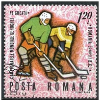 Rumania 1970 Scott 2150 Sello º Sports Campeonato Mundial Hockey Hielo Jugada 1,20Leu Romania Stamps Timbre Roumanie - 1948-.... Repúblicas