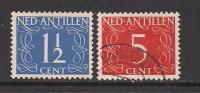 NEDERLANDSE ANTILLEN 1950 Cancelled  Stamp(s)  Numbers 2 Values, Thus Not Complete 212+217 - Curacao, Netherlands Antilles, Aruba