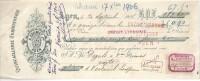 Mandat  30/09/1906  -  AGEN  -  A.  COUMET  Quincaillerie,  Ferronnerie  -  Mr  DEGAL  &  Vve DUMAS  VERTEUIL - Lettres De Change