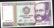 PERU  P137   5000  INTIS      28.6.1988   UNC. - Pérou