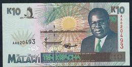 MALAWI   P31  10   KWACHA  1995 Série #AA020493  UNC. - Malawi