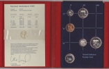 PAYS-BAS / NETHERLANDS : KM #PS30 - 5-coins & Silver Medal Year Set (1985) PROOF In Official Folder - Pays-Bas