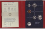PAYS-BAS / NETHERLANDS : KM #PS31 - 5-coins & Silver Medal Year Set (1986) PROOF In Official Folder - Pays-Bas