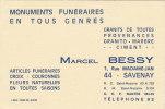 ¤¤  -  Attention Carte De Visite  -  SAVENAY  -  Marcel Bessy , 1 Rue Madame-Jan  -  Monuments Funéraires   -  ¤¤ - Visiting Cards
