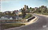 Cpsm Champtoce, Route De Nantes, Ruines Du Vieux Château De Gilles De Retz Dit Barbe-bleue, Publicité Cinzano - Otros Municipios