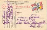 Carte En Franchise Militaire - Marcophilie (Lettres)
