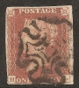 Grande-Bretagne (GB) Victoria 1841 - Penny Rouge Planche 12 HL (H Caractéristique) - 1840-1901 (Viktoria)