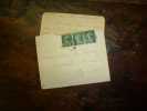 1930 ?  3 Timbres De 5 Centimes Collés Sur Enveloppe - Storia Postale