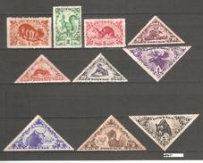 Tannu Tuva 1935,Animals Types,Sc 61-70,MLH / 5 Tug Bear MNH** - Tuva