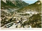 ANNOT  -(cpsm/pm/gm/coul)-le Village Et La Gare En Hiver - Chemins De Fer De Provence - Andere Gemeenten