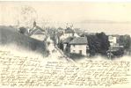 Corcelles. Cormondrèche.Vue De La Rue Principale. Voyagée En 1903 - NE Neuchatel