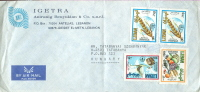 Lebanon Stamps On Cover - Uccelli