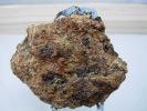LUSSATITE CALCEDOINE BLEUE SUR CALCAIRE BITUMINEUX 5 X 5,5 Cm DALLET - Minerals