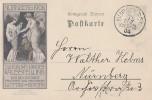 Bayern Privat-Ganzsache Minr.PP10 Nürnberg 1906-Jubiläums-Landes-Ausstellung Gelaufen - Bayern