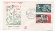 MONACO - Premier Jour - FDC - 1966 -  DANTE ALIGHIERI - 700e Anniversaire - FDC